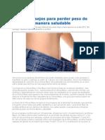 Perder Peso de Manera Saludable 2012