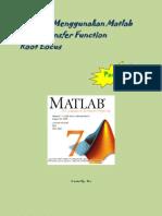Tutorial MatLab Pertemuan 2(Root Locus)