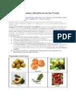 des y Beneficios de Las Frutas 2012