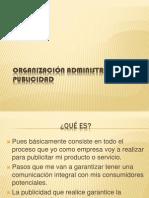 ORGANIZACIÓN ADMINISTRATIVA DE LA PUBLICIDAD