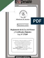 reglamento de la ley de firmas 27269