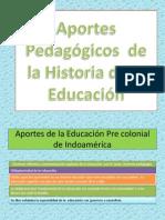 Aportes Pedagogicos de La Historia de La Educacion