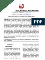 Ponteciometría directa con electrodo de vidrio