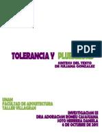 tolerancia y pluralidad