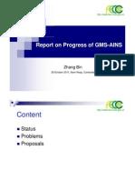 6 Report on Progress of GMS-AINS-FECC_Zhang Bin