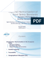 10 Regional Harmonization of Food Safety Standards in the EU - V Andre