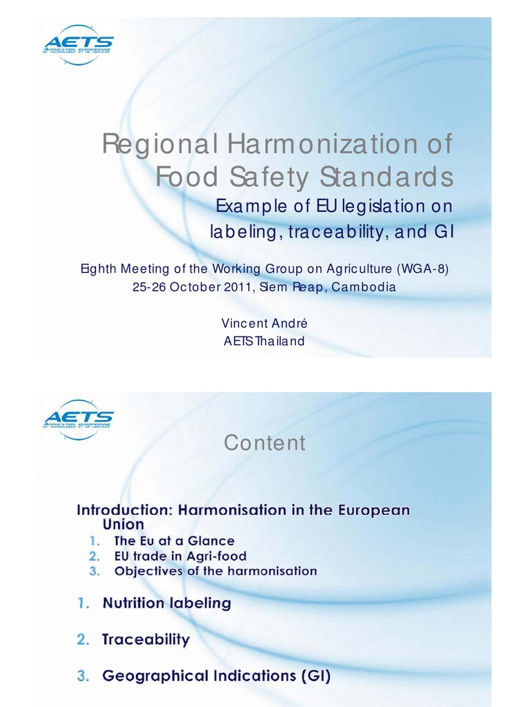 10 Regional Harmonization of Food Safety Standards in the EU