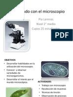 Descubriendo con el microscopio- taller JEC 2°