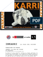 INKARRI. Comunicado de Prensa