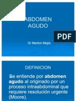 01 - Cirugía - Abdomen Agudo