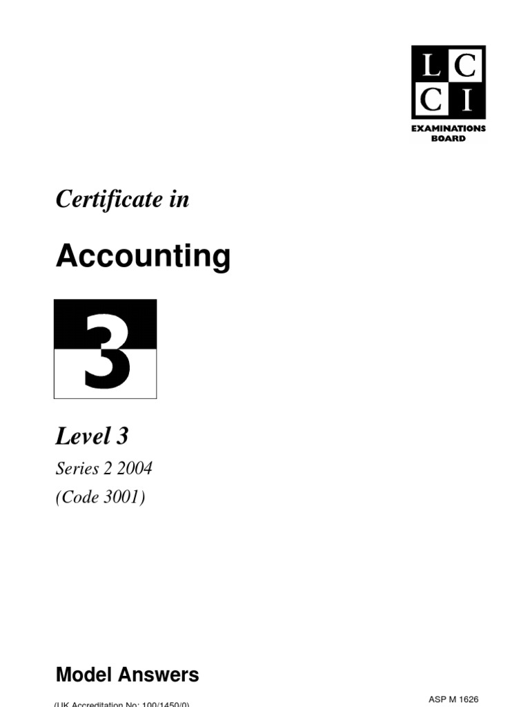 Accounting level 3series 2 2004 code 3001 debits and credits accounting level 3series 2 2004 code 3001 debits and credits book value xflitez Images