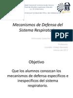 Mecanismos de Defensa Del Sistema Respiratorio