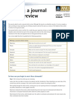 Writing a Journal Article Review [New]