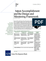 Output Accomplishment and the Design and Monitoring Framework