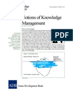 Notions of Knowledge Management