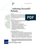 Conducting Successful Retreats