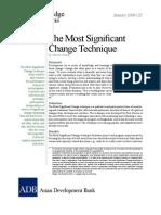 The Most Significant Change Technique
