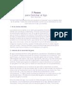 7 Pasos Para Dominar El Ego