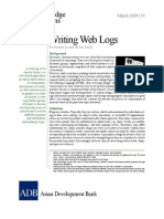 Writing Web Logs