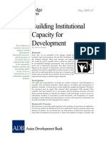 Building Institutional Capacity for Development