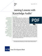 Learning Lessons with Knowledge Audits