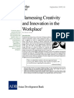 Harnessing Creativity and Innovation in the Workplace
