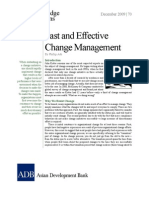 Fast and Effective Change Management
