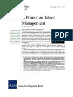 A Primer on Talent Management