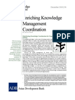 Enriching Knowledge Management Coordination