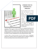 Introduction to Performance Appraisal
