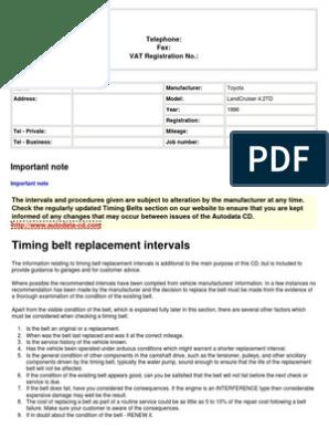 1HD,KZ Timing Belt Lc42td | Belt (Mechanical) | Vehicle Parts
