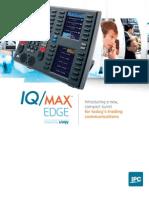 IPC4121 IQMAX Brochure Single