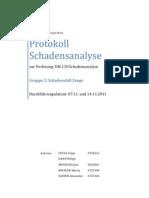Protokoll Schadensanalyse