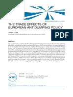 The effects of the European Antidumping Policy (Eng) / Los efectos en el comercio de las políticas antidumping europeas (Ing) / Europar antidumping politiken eragina merkataritzan (Ing)