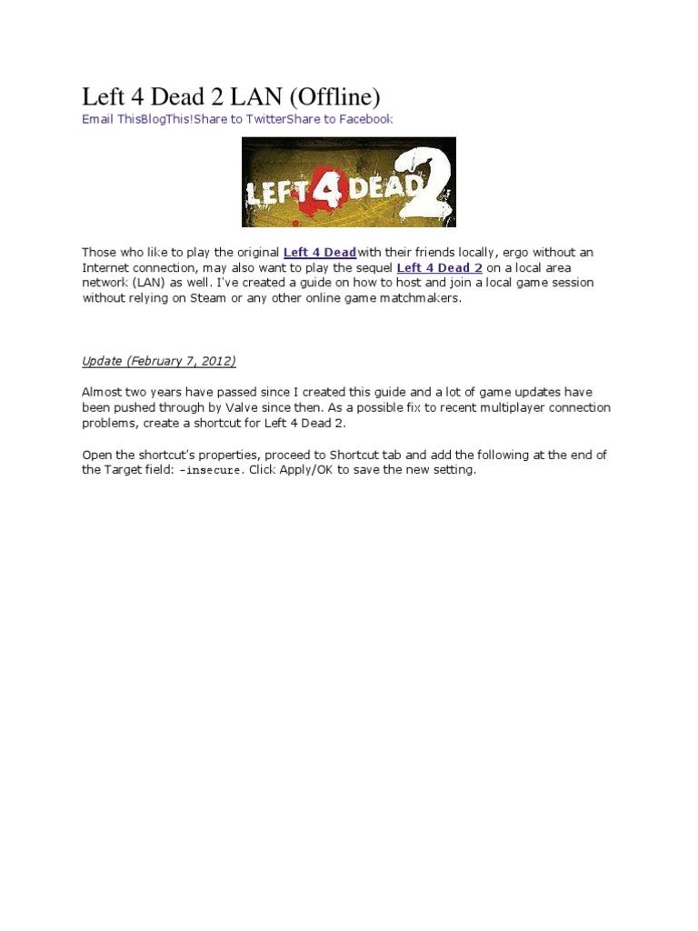Left 4 Dead 2 LAN | Media Technology (89 views)