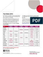 Serbia Exams Ielts 2012 Dates