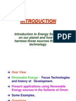 Introduction to Energy Sources on Our Planet