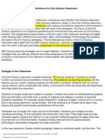 Characteristics of a 21st Century Classroom_Sample