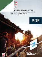 24 Stunden von Bayern 2012 Broschüre