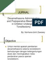 Dexamethasone Administration and Postoperative Bleeding Risk in Children