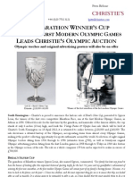 The Marathon Winner's Cup  From The First Modern Olympic Games  Leads Christie'S Olympic Auction
