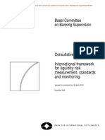 Basel 2 - International Framework for Liquidity Risk - Consultative Document
