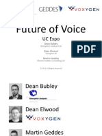 Future of Voice Seminar at UC Expo 6 March 2012
