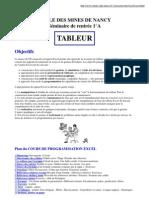 Cours de Program Mat Ion Excel