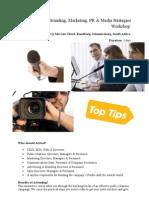 Innovative Branding Marketing PR Media Strategies Workshop