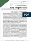 LE CASSE DELLA LEGA SONO PIENE DI SOLDI  (LIBERO - BECHIS FRANCO)