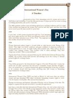IWD - a time line_ 8 março 2012