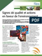 Labels de qualité et action en faveur de l'environnement (Aficar )