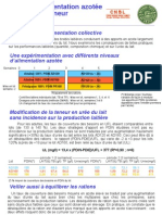 Alimentation azotée des brebis et teneur en urée du lait (CNBL)