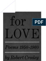 Robert Creeley - For Love Poems